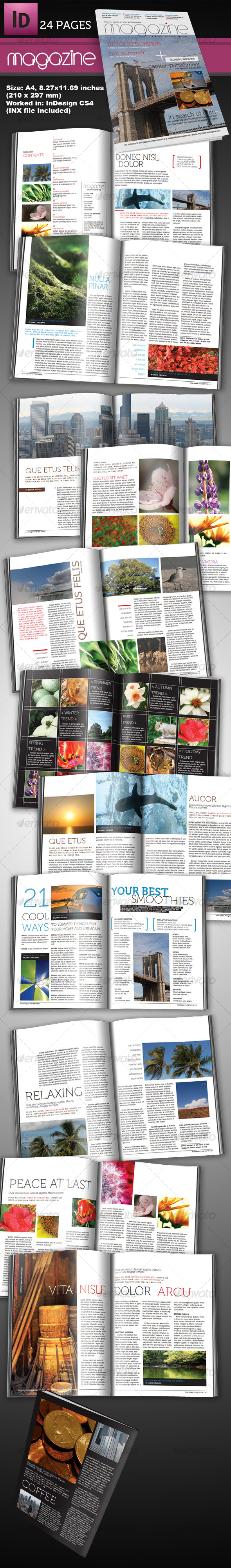 adobe indesign magazine template download free - stylus indesign magazine print ad templates