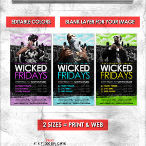 Cityscape Flyer // Adjustable Colors in 2 Sizes