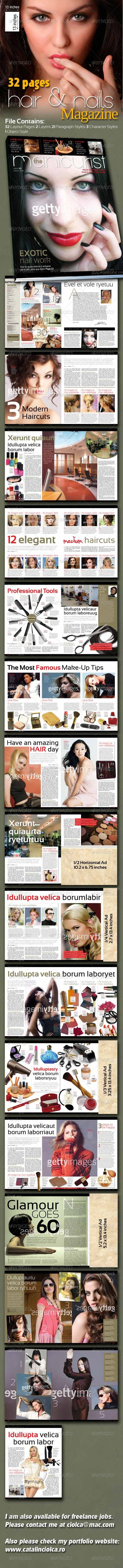 32 Pages Hair & Nail Magazine