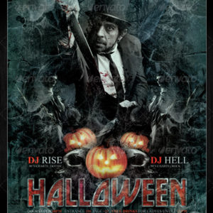 Halloween / Rock Night Club Party Flyer / Poster