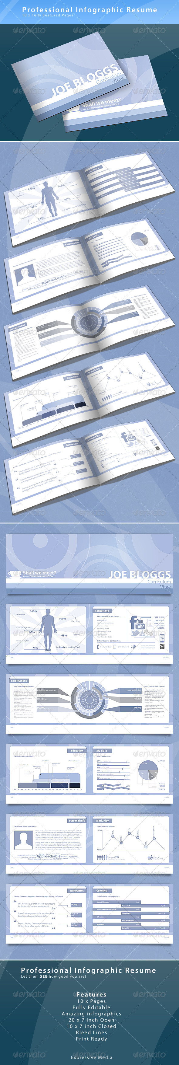 infographic resume booklet print ad templates