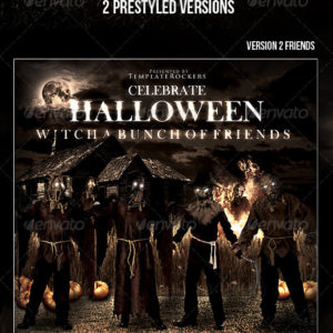 Scary Scarecrow Flyer | 2 Sizes | 2 Versions