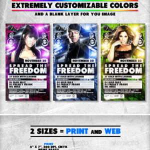 Urban Freedom Flyer // Extremely Adjustable Colors