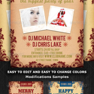 Christmas and Nye Party Flyer Template