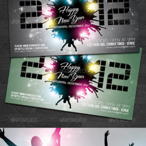 2012 New Year Flyer Template