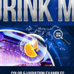 Drink Mix Party Flyer Template
