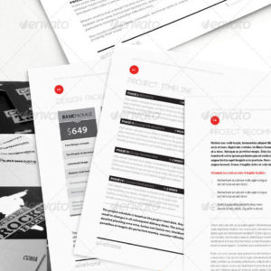 Wireframe: Proposal Template w/ Invoice & Contract