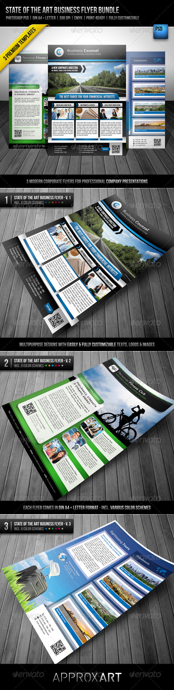 State Of The Art Business Flyer Bundle Print Ad Templates