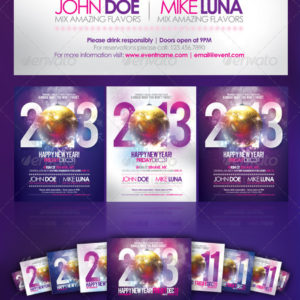 Happy New Year Party Flyer 2013