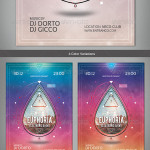 Electro Event Flyer:Poster Templates