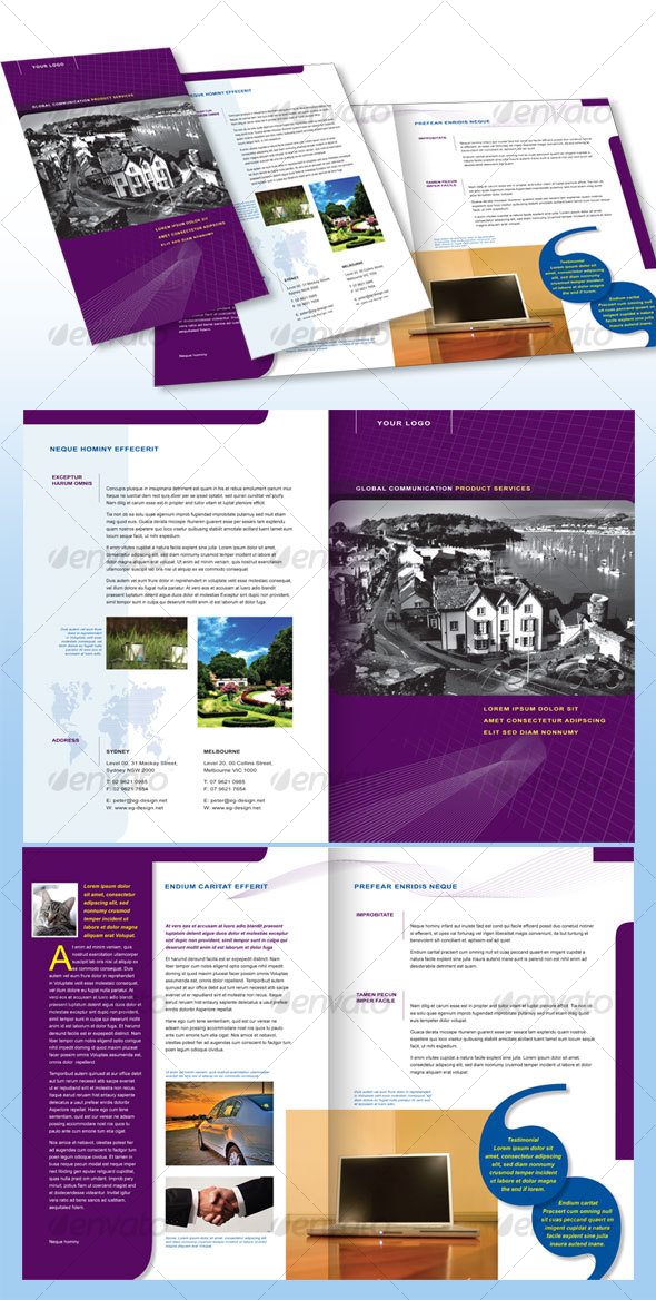 4 page corporate brochure a4 print ad templates for Four page brochure template