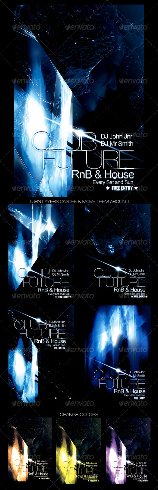 Futuristic Club Flyer