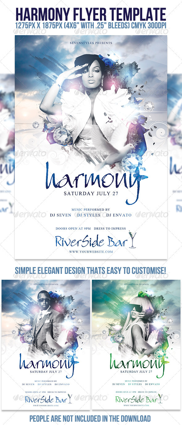 harmony flyer template print ad templates