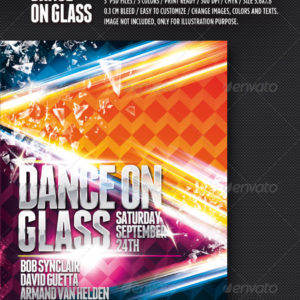 NightClub Party Flyer Template | Dance on Glass