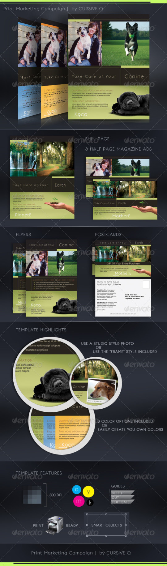 Print Marketing Campaign Template Set
