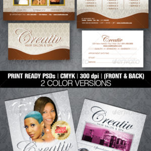 Upscale Salon Flyer & Business Card Templates
