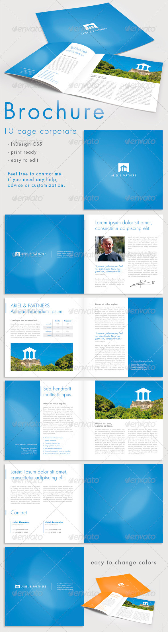 10 Page Corporate Brochure - Print Ad Templates