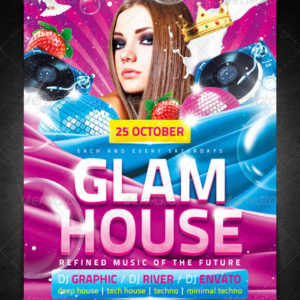 Glam House Flyer