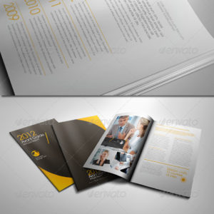 Avant Garde Corporate Annual Report Brochure
