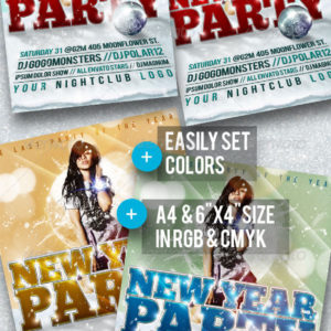 New Year Party Flyer A4 + 6×4