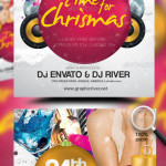 Time For Christmas Party Flyer