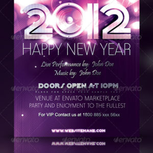 Happy New Year Flyer/Poster Template