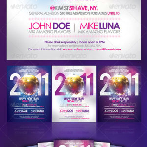 Happy New Year Party Flyer (Updated for 2012)