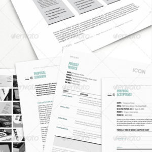 Icon: Proposal Template w/ Invoice & Contract