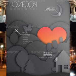 Lovejoy – Valentines Party Poster & Flyer Set