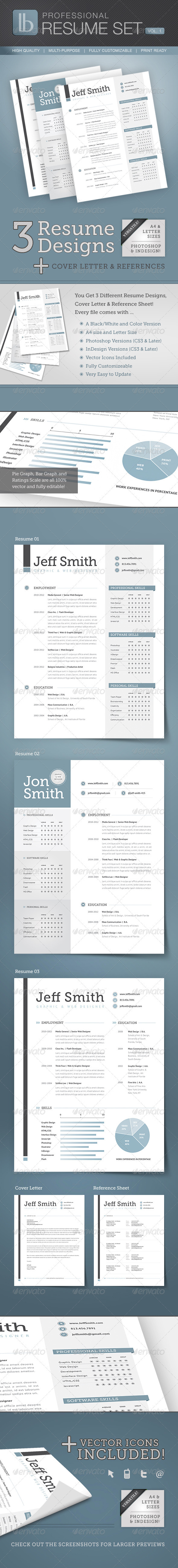 Professional Resume Set | Volume 1