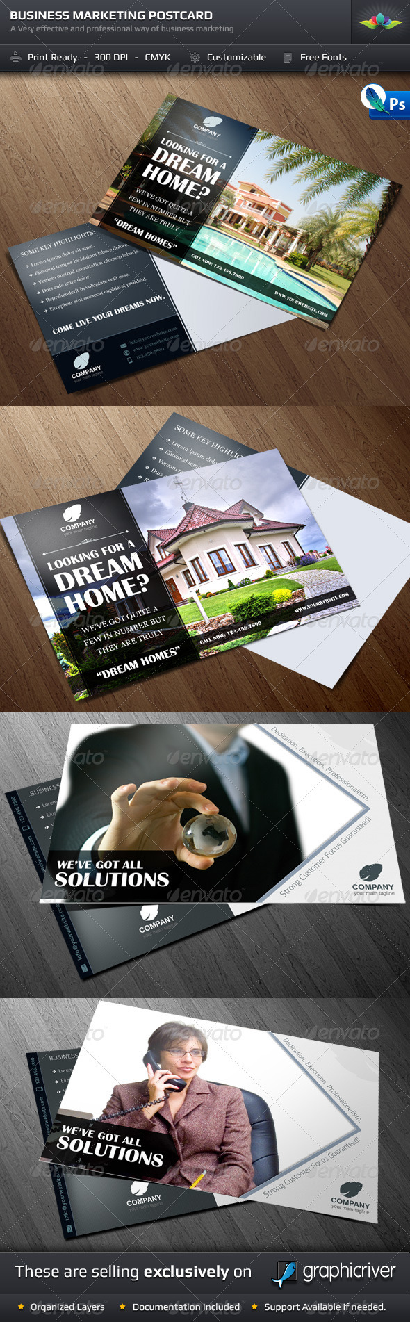 Advertising Postcard Template