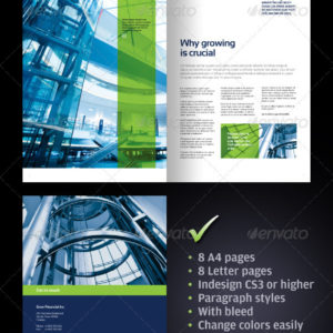 8 page Corporate Business Brochure