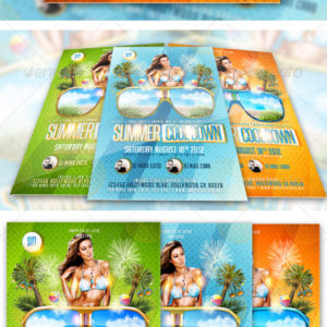 Summer Cool Down Party – Club Flyer