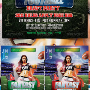 Fantasy Draft Football Party