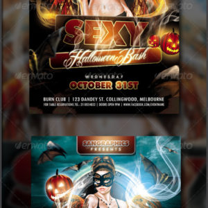 Sexy Halloween Bash Flyer