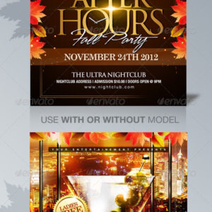 After Hours Party Flyer Template