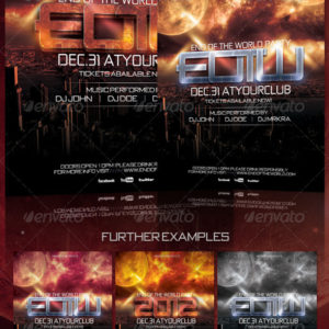End of the World / 2012 New Years Flyer Template