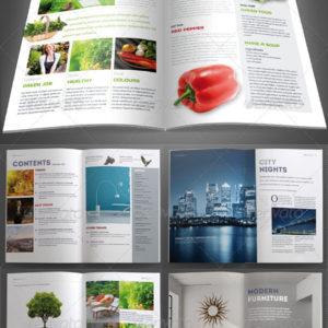 InDesign Magazine Template 40 pages