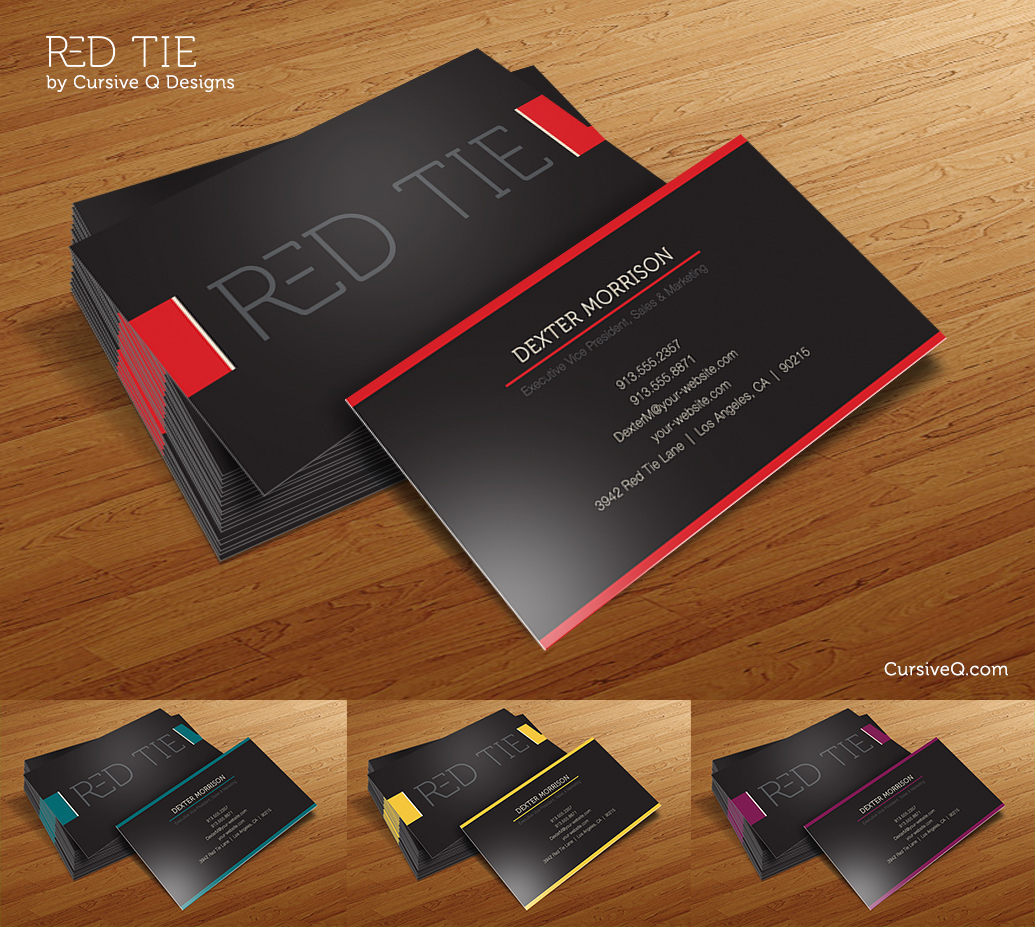 Red tie free business card template print ad templates red tie free business card template wajeb Images