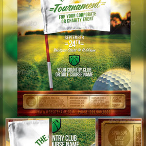 Golf Tournament Event Flyer Template