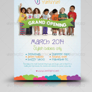 Kids Store Flyer Templates