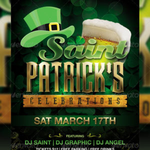 St. Patrick's Day Celebration Flyer