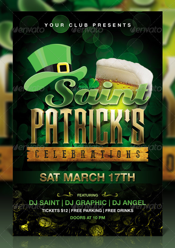 st  patrick u0026 39 s day celebration flyer
