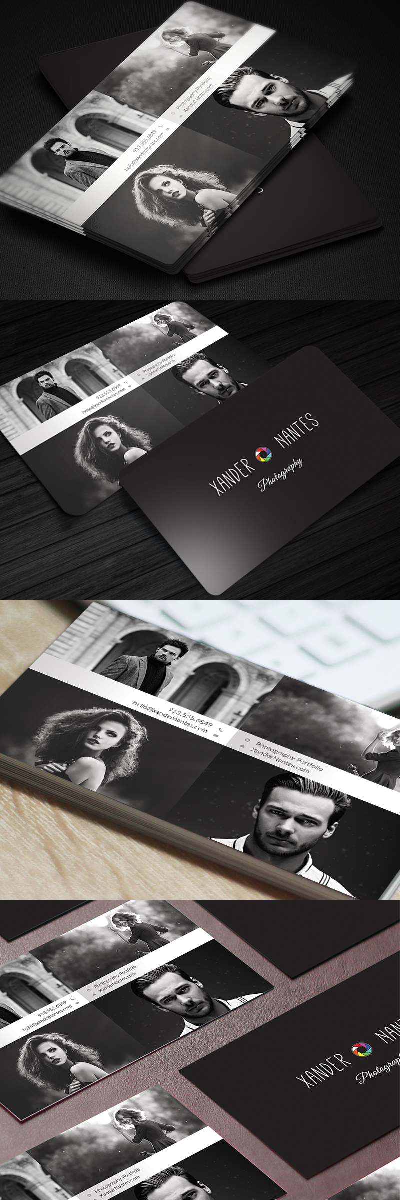 Photographer Business Card – QuadPix – Photoshop PSD Template