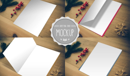 Greeting Card Mockup Template